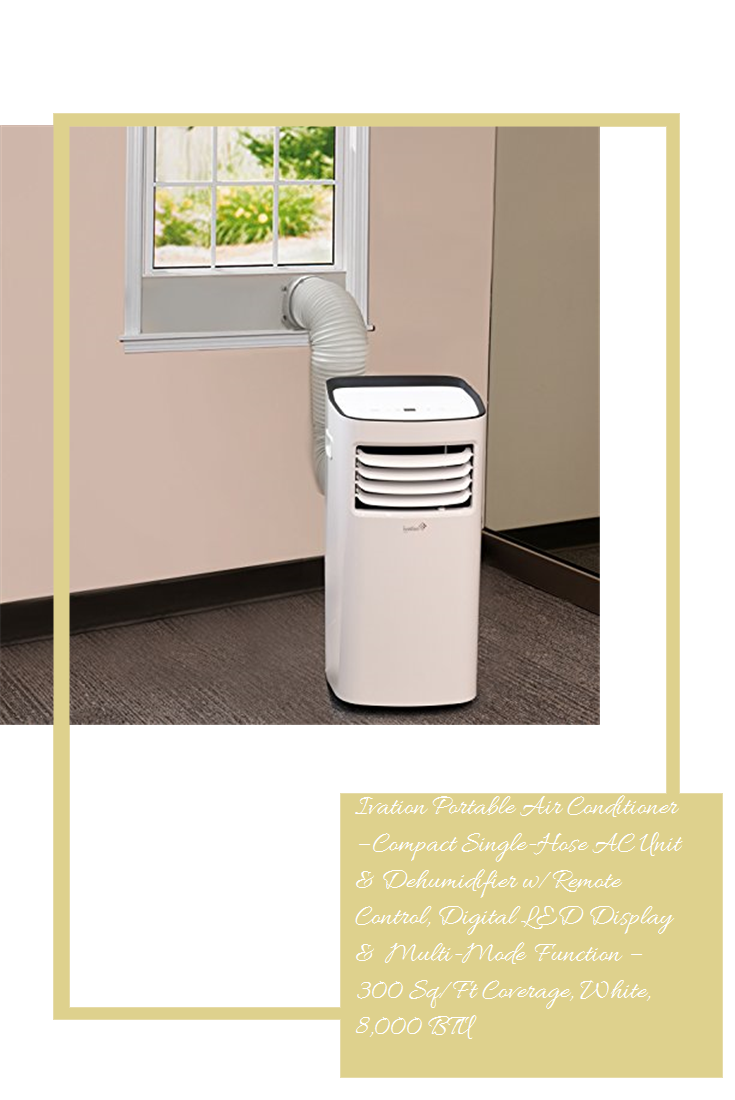 Ivation Portable Air Conditioner Compact SingleHose AC