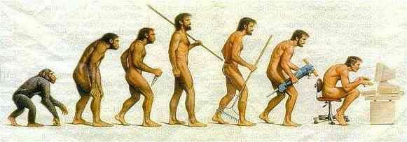 Van oermens naar bureaumens | Evolutie van de mens, Evolutie, Geschiedenis