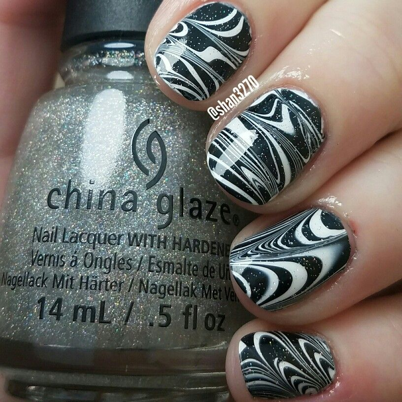 Water Marble Nail Art Pinterest Marbles