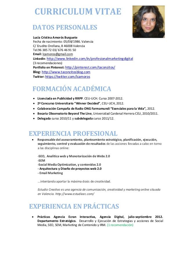 Best Curriculum Vitae Pictures To Pin On Pinterest
