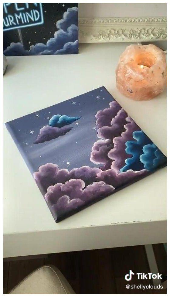 cloud painting aesthetic tutorial