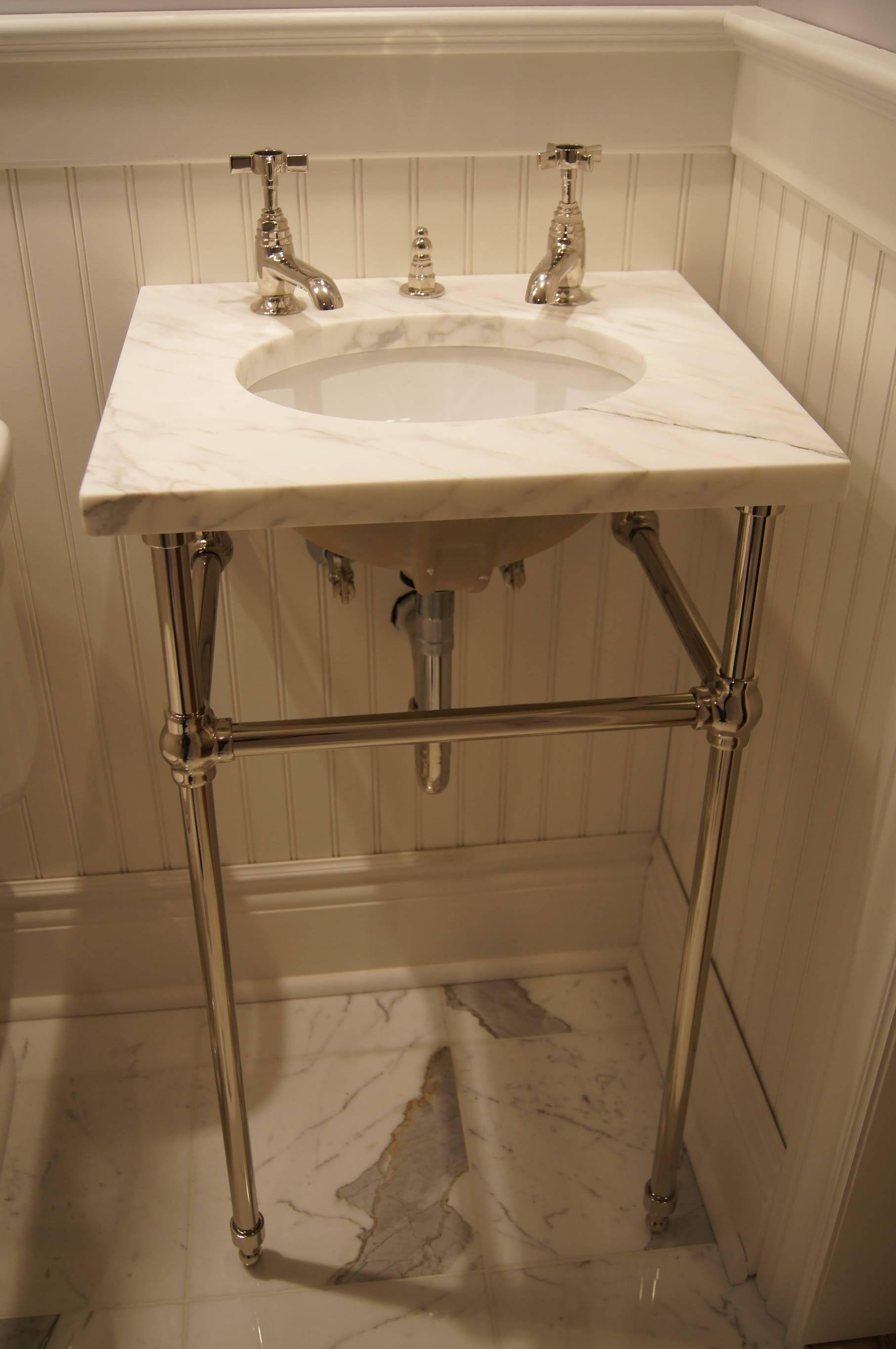 Pin By Ashley Riley On Bathroom 2nd Floor Small Bathroom Sinks Bathroom Console Powder Room Sink