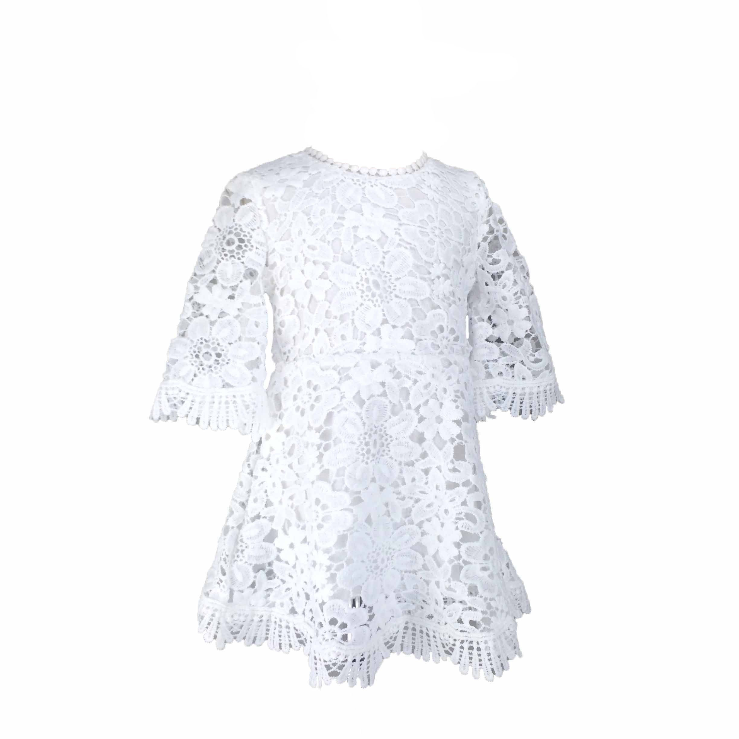 Kids Girls Lace Dress Bell Sleeve Summer Fall Party White Dresses 4t Size 1 2 3 4 For Toddler Girls 1 Girls Lace Dress Girls Ruffle Dress White Dress Party [ 2448 x 2448 Pixel ]