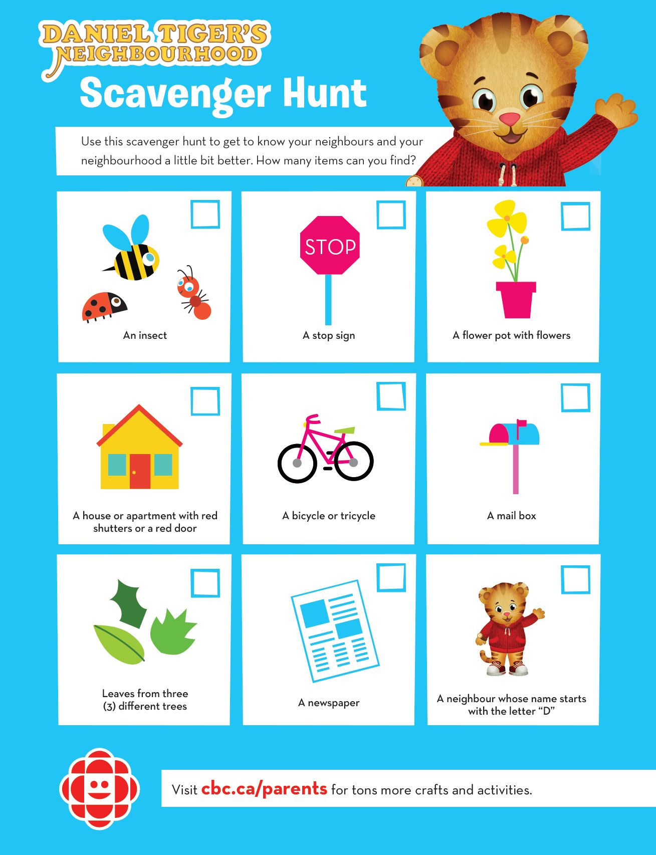 Daniel Tiger S Neighbourhood Scavenger Hunt