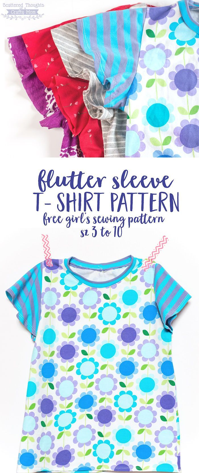 Free Pattern! Flutter Sleeve T-Shirt Pattern, size 3 to 10 | Babies ...