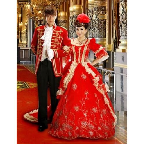 Best Creative Red Historical Victorian Era Couples Costumes for ...