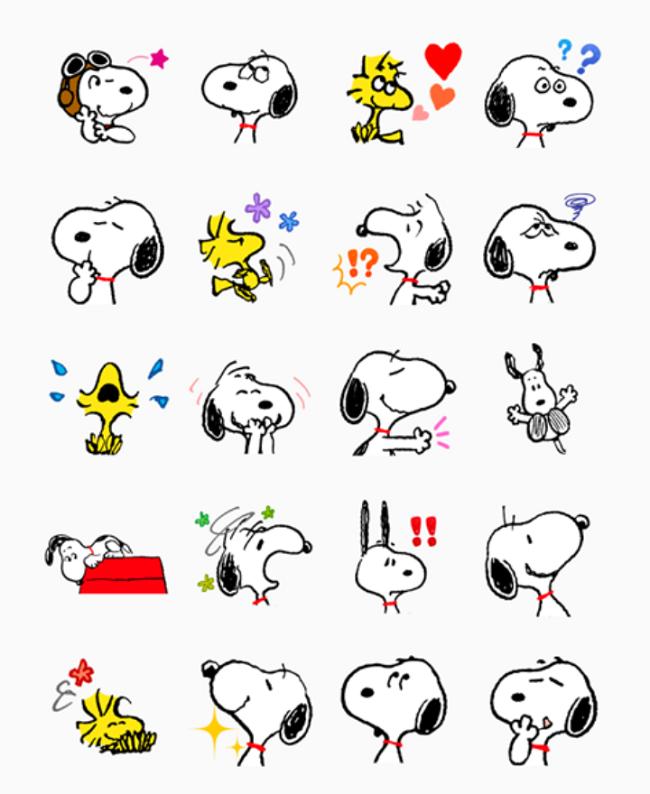 e7da4445daac snoopy stickers for messenger