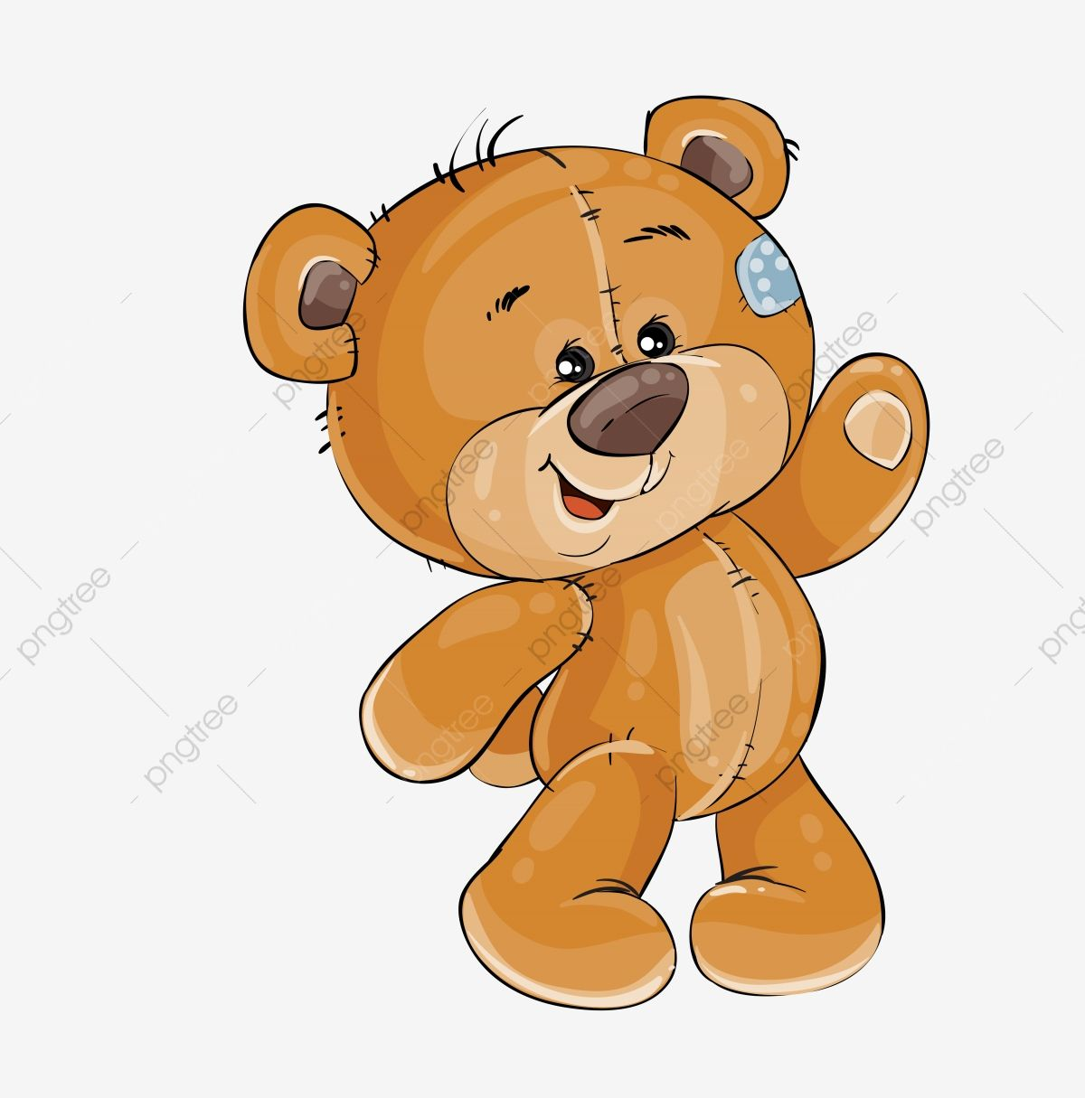 Vector Clip Art Art Illustration Teddy Bear Waving Its Paw Print Teddy Clipart Template Design Element Png And Vector With Transparent Background For Free Do Teddy Bear Cartoon Teddy Bear Clipart