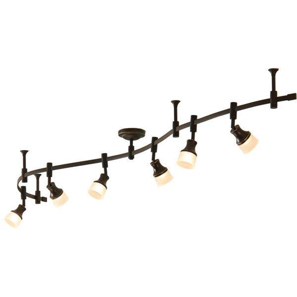 Decorative Track Lighting Fixtures: Allen Roth 6-Light Bronze Integrated Led Decorative
