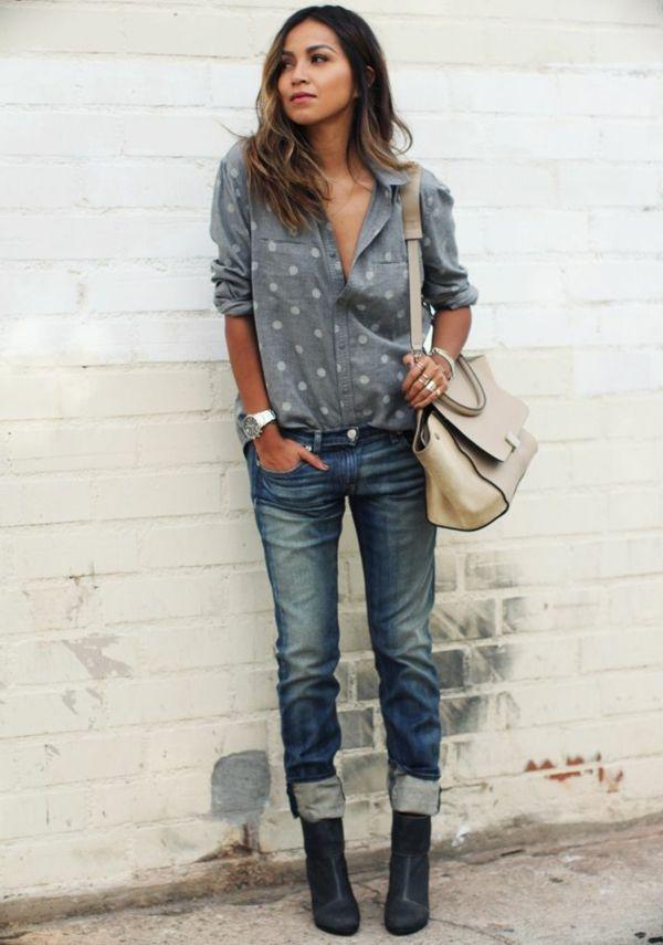 le jean boyfriend femme 70 id es comment le porter tenue hiver style. Black Bedroom Furniture Sets. Home Design Ideas