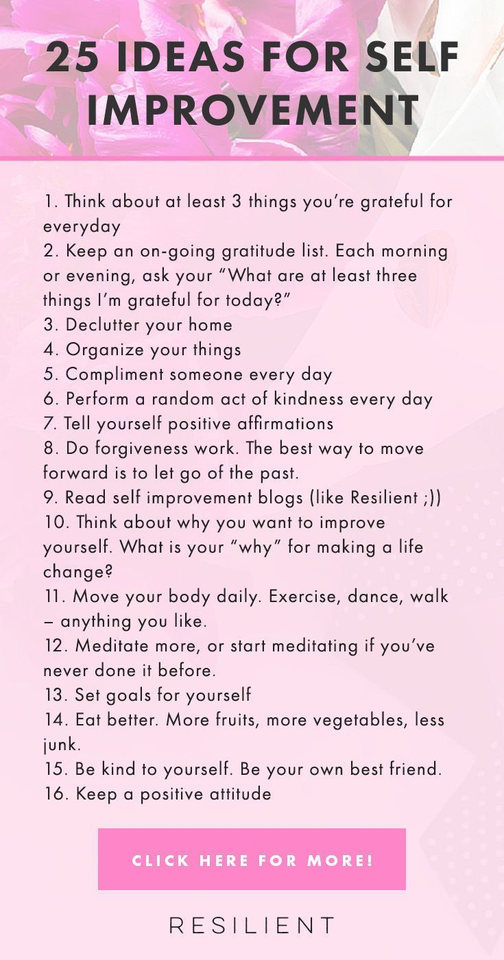 There are many different ways to improve yourself and make your life better. Here are 25 self improvement tips and personal growth ideas for improving your life. #selfhelp #personaldevelopment #growth #lifeadvice #personalgrowth #mentalhealth #wellness #selfgrowth #changeyourlife #happy #happiness