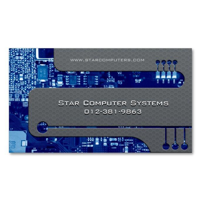 Content Developer Business Card Circuits Cutaway Zazzle Com Clever Business Cards Business Card Design Minimal Pc Repair