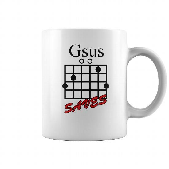 Awesome Tee Jesus Saves Gsus Saves Guitar Chord Mug Shirt Tee