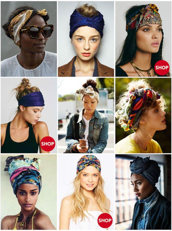 How To Style A Summer Headscarf Coco S Tea Party Faixas De Cabelo Penteado Cabelo Crespo Cabelo