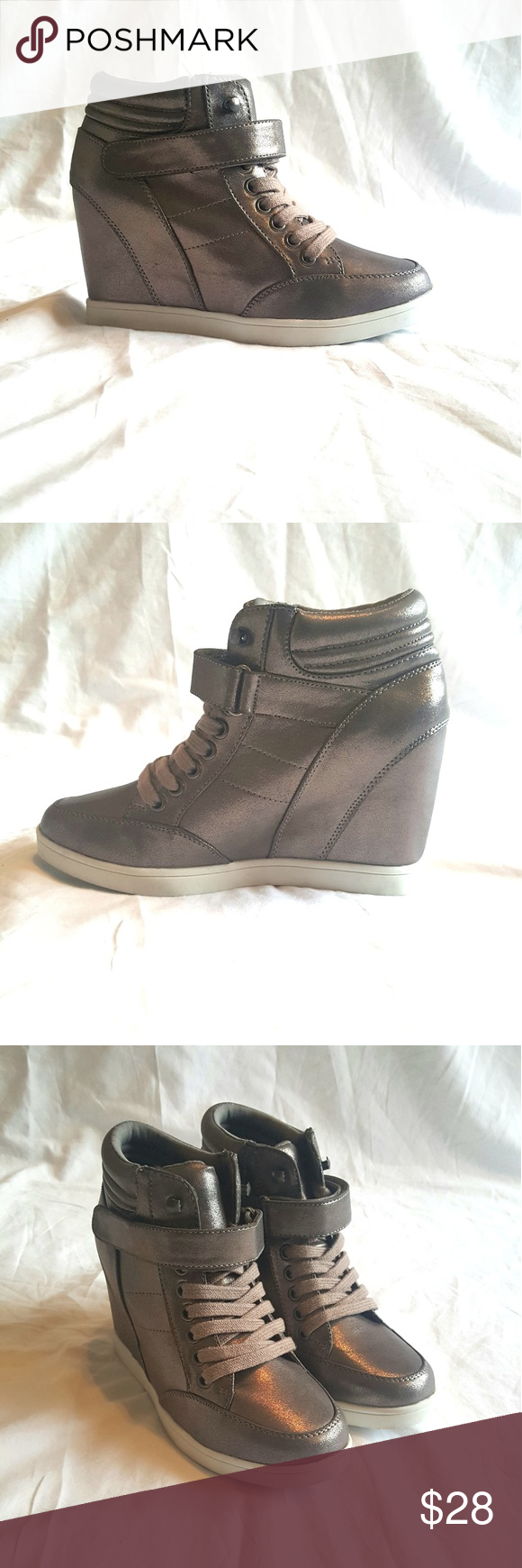 d3fd27f7d0b Madden Girl Finkyy Wedge Sneakers Brand New