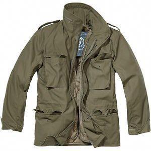 Photo of Brandit Classic M65 Mens Army Field Jacket Warm Travel Parka Military Coat Olive  | eBay