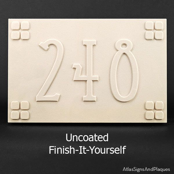 custom uncoated craftsman style address plaque for diy fun get