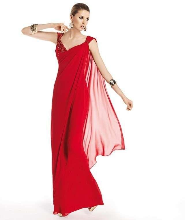 Vestidos invitadas boda: fotos diseños de fiesta en rojo - Vestido ...
