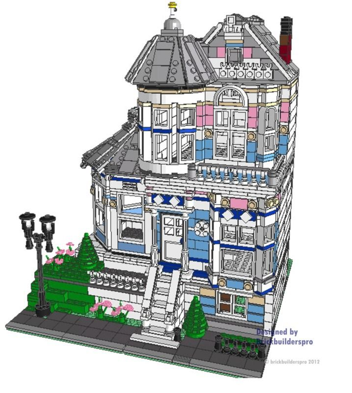 Painted Lady Victorian Pdf Instructions Painted Ladies Lego And Legos