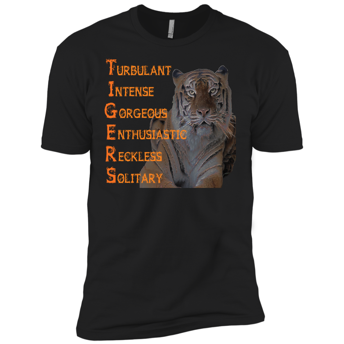 Tiger Word Art NL3600 Next Level Premium Short Sleeve T