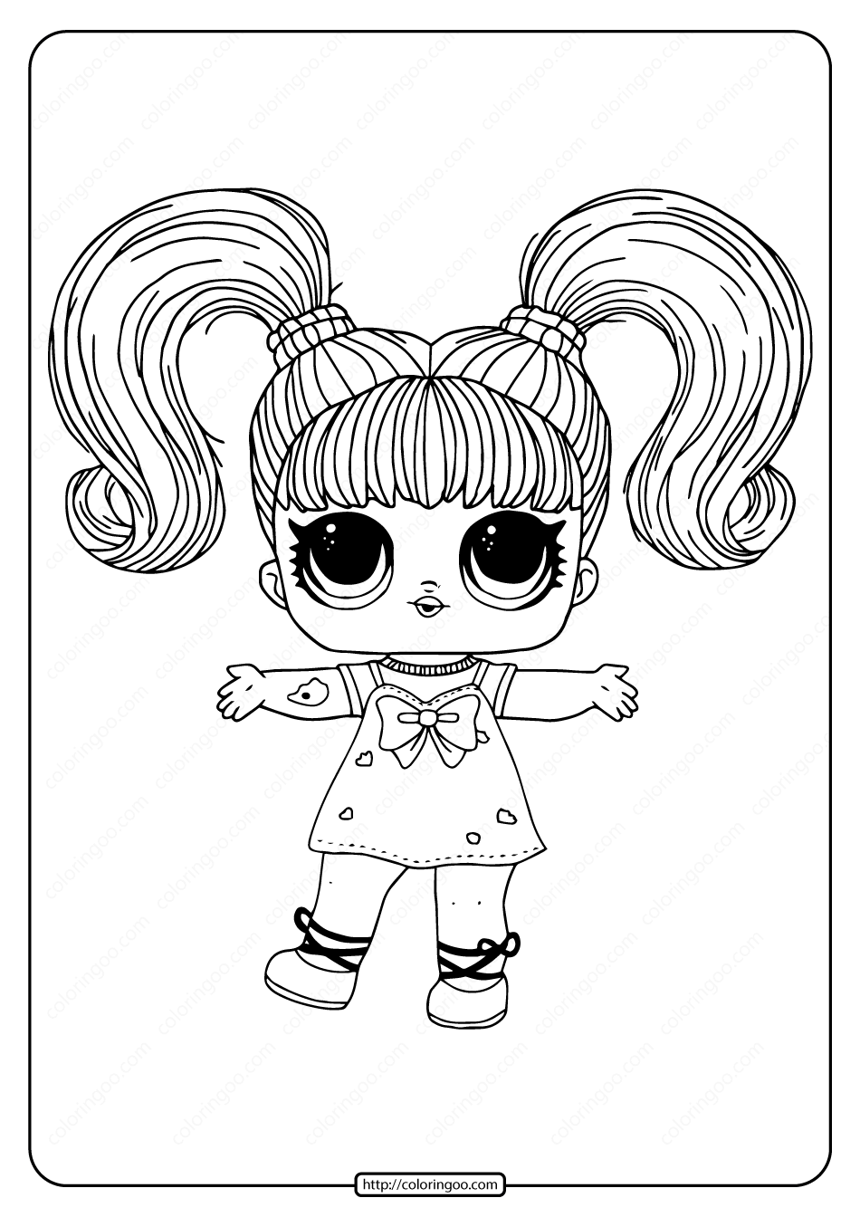 Lol Surprise Hairgoals Yang Q T Coloring Page High Quality Free Printable Coloring Dra Princess Coloring Pages Cartoon Coloring Pages Unicorn Coloring Pages