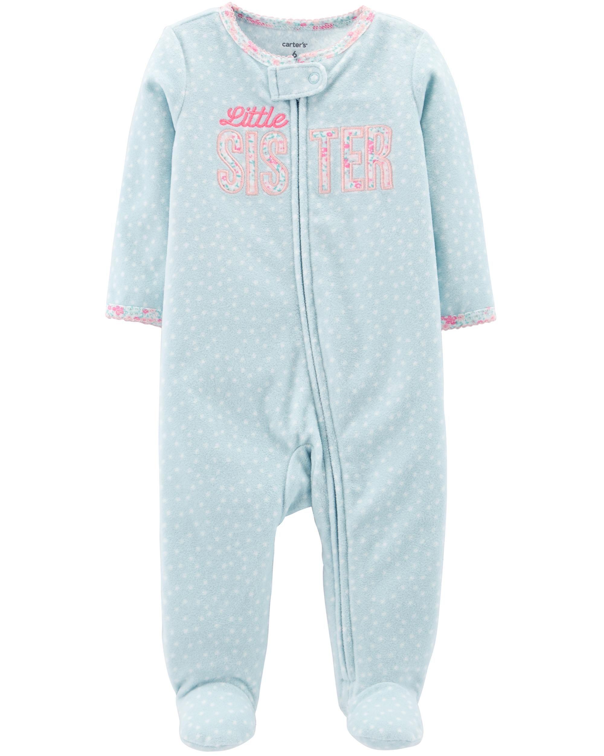 1d6a506e0 Little Sister Zip-Up Fleece Sleep   Play