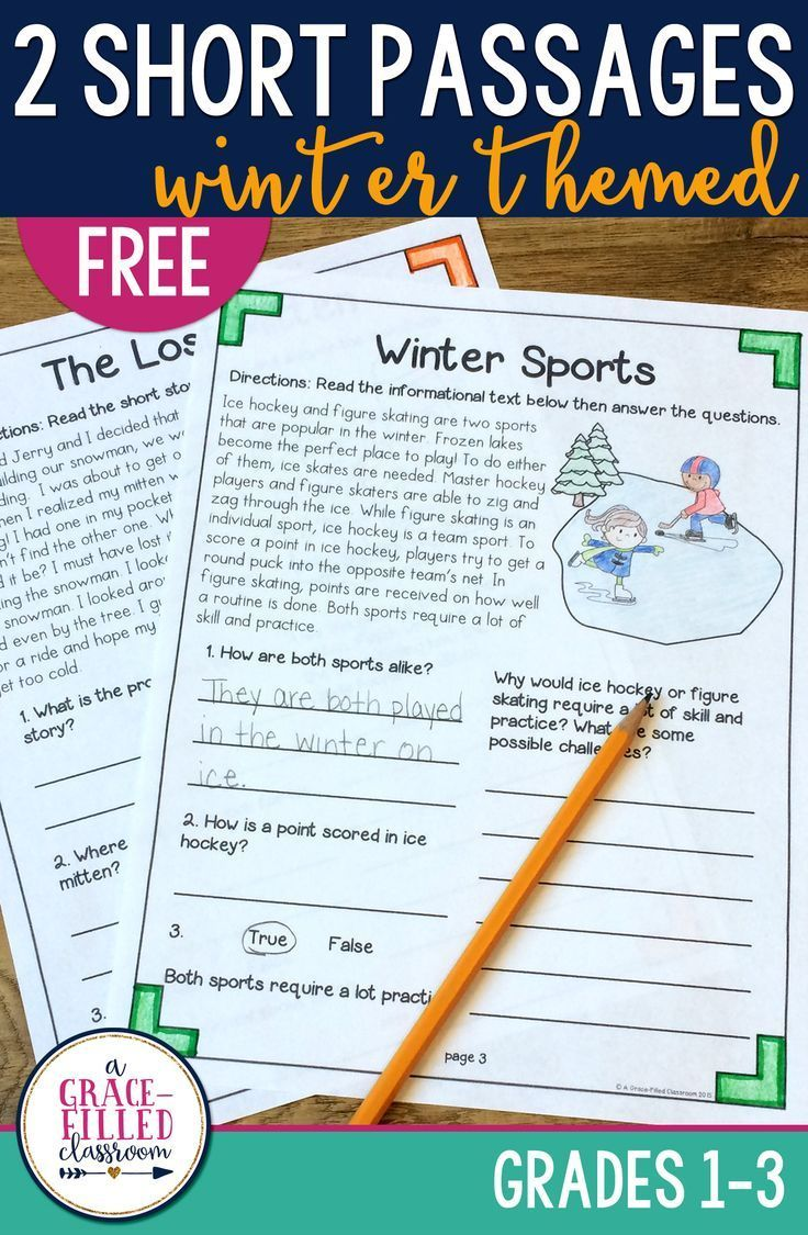 FREEBIE These winter passages include one informational text and one fictional passage with text dependent questions. These are perfect printables for reading centers and reading homework in the winter time!