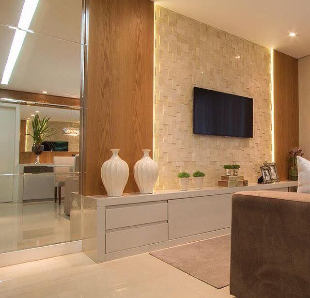 Pin By Chirine Khalaf On Home Interior: Gostei Da Idéia Do Hack Com Parede De Pedras, Iluminação