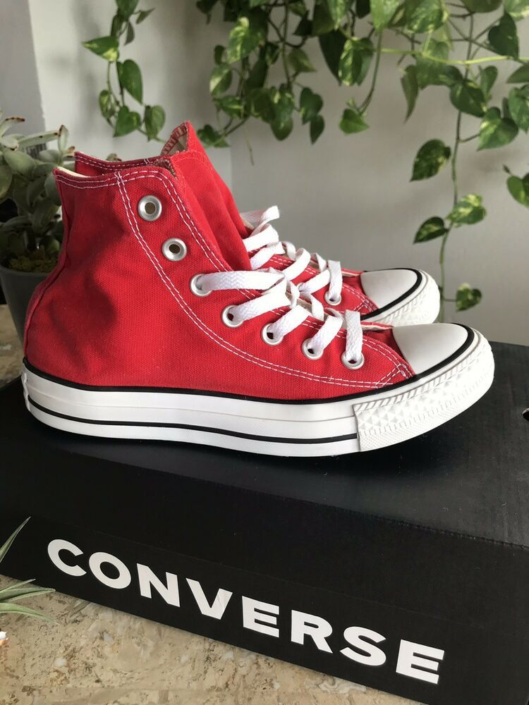 Unisex Red high top converse Sneakers