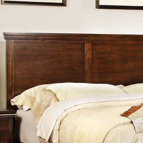 Dunhill Transitional Style Brown Cherry Finish Queen Size Bed