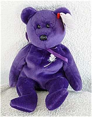 ae63dd747be Ty Princess the Purple Bear Beanie Baby 1997