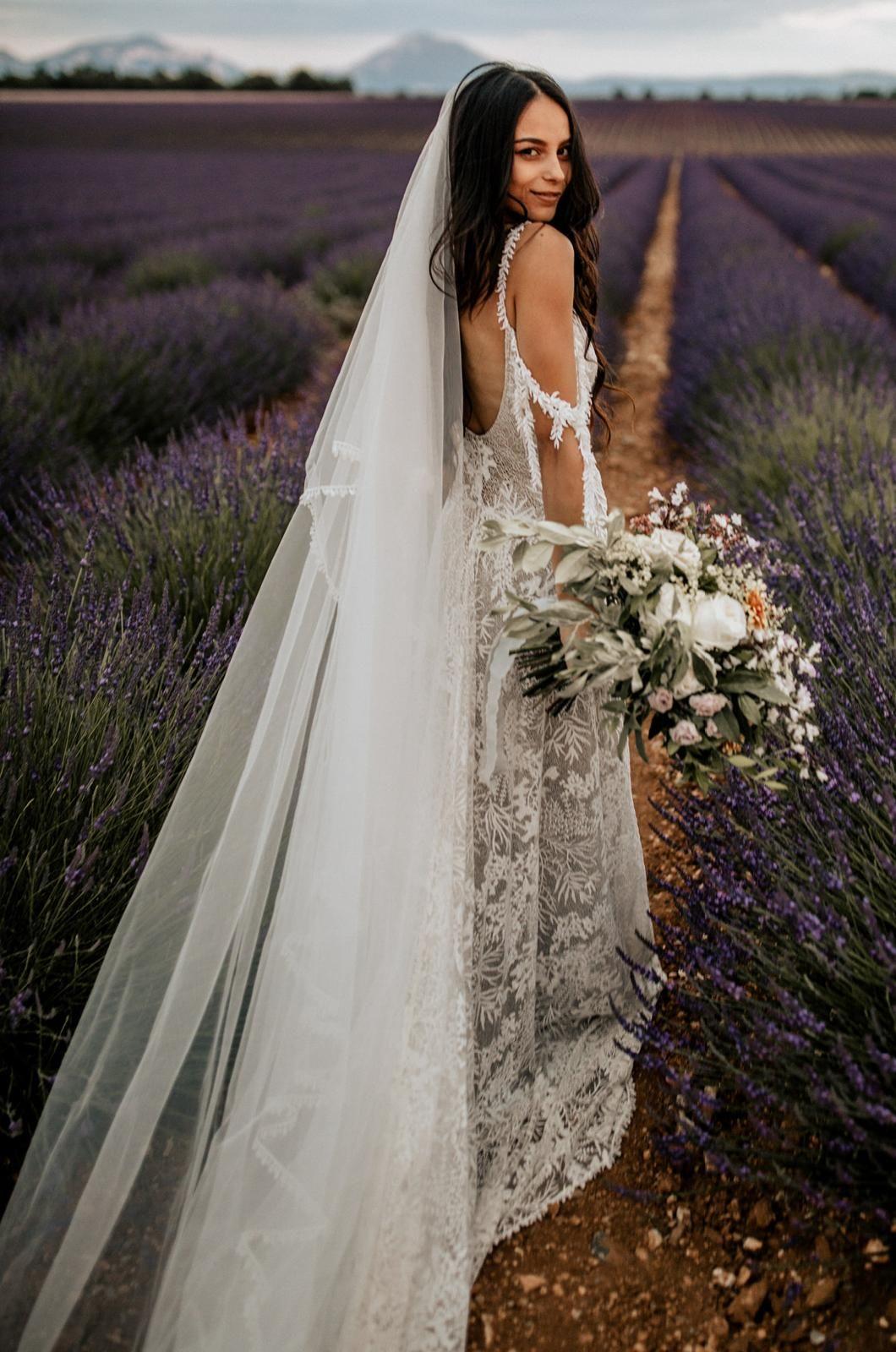 Fox Veil Tulle Bridal Veil With Trim Lace weddings