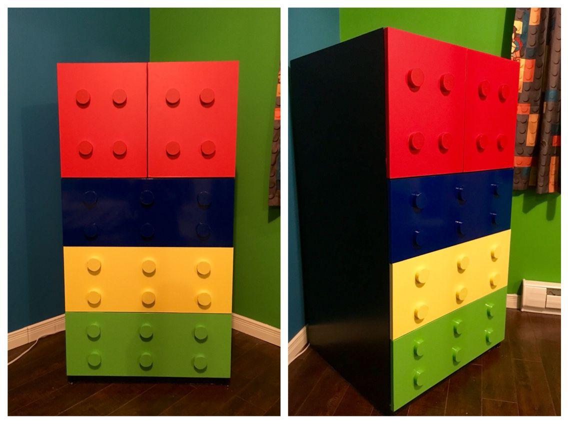 Chambre Lego/Lego bedroom : après/after