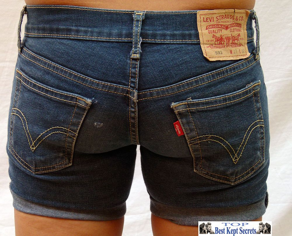 Levi DENIM SUMMER SHORTS HOTPANTS womans girls  UNIQUE   Levi 539 ref s1002