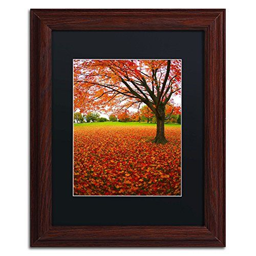 Dark Stained Wood with Gold Trim overstockArt Autumn Print by Kopania with Opulent Frame
