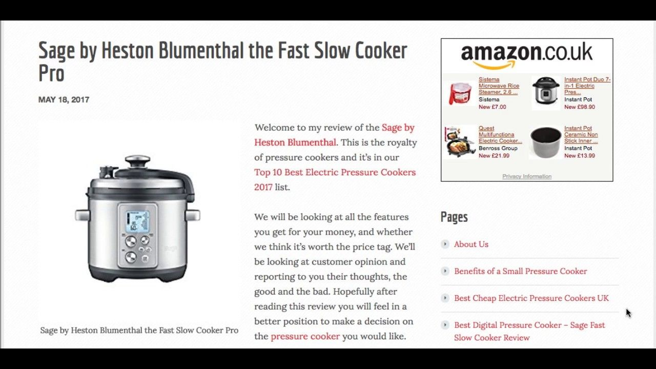 Sage by Heston Blumenthal the Fast Slow Cooker Pro | Best