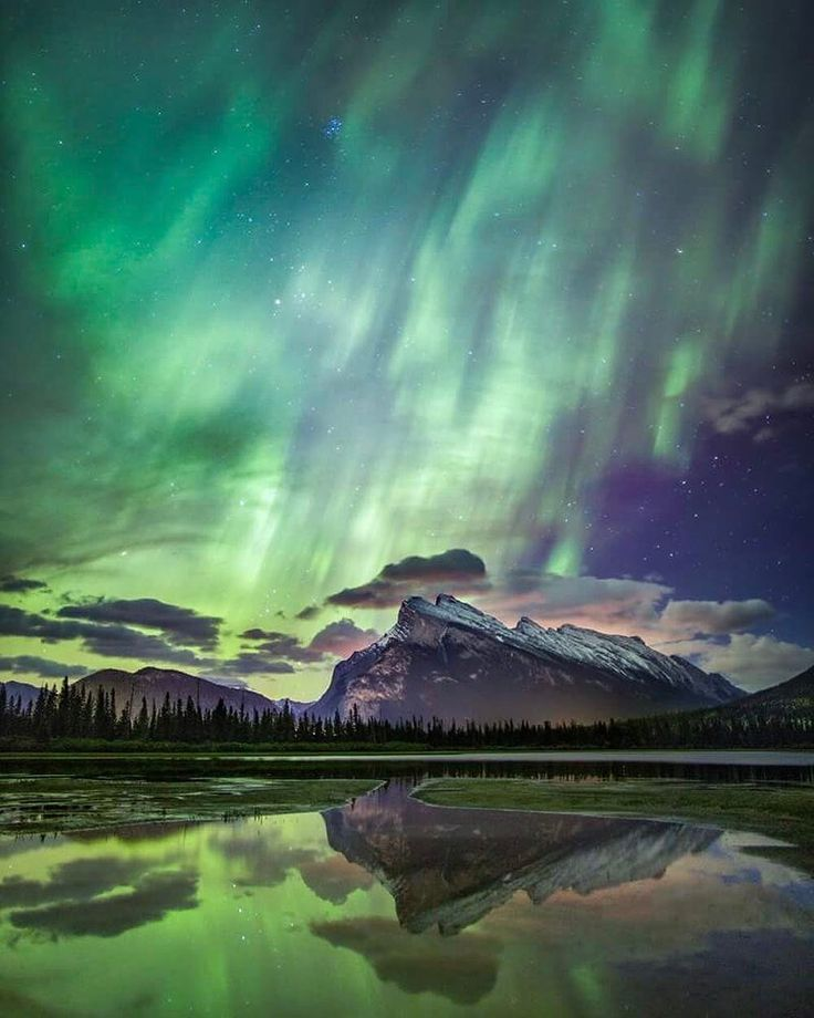 Here in Banff National Park we rarely get the big northern lights - new blueprint alberta northern lights