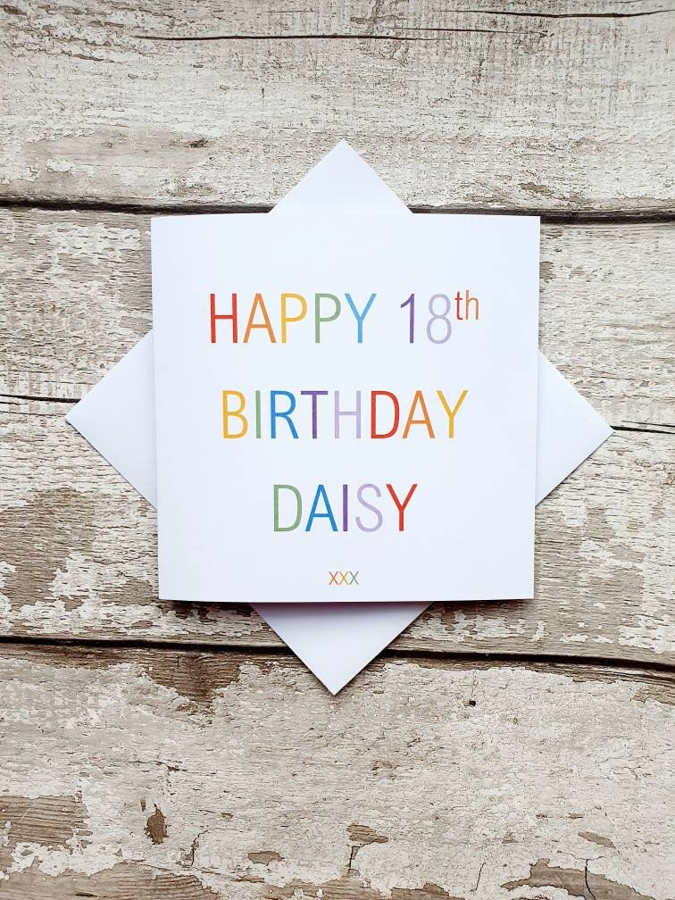 Personalised Birthday Card 18th Birthday card Etsy in