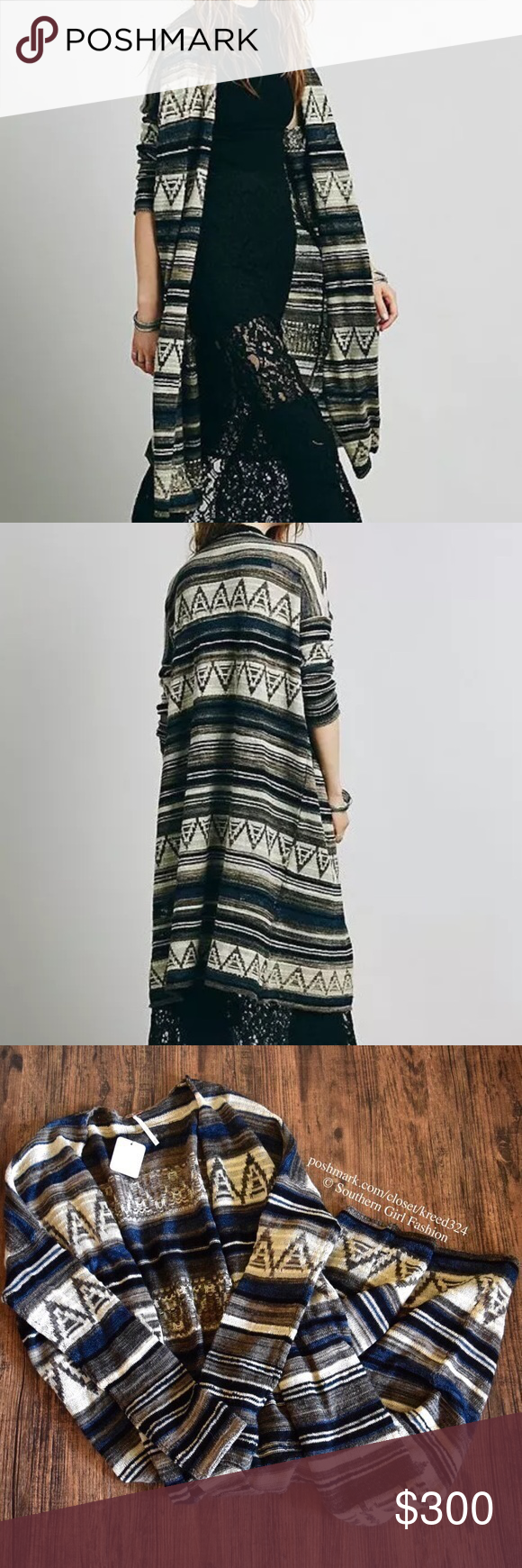 FREE PEOPLE Cardigan Long Sweater Jacket Maxi Thin Size XS. New with tags. $168 Retail + Tax.   • Long, patterned maxi cardigan featuring an open, draped silhouette.  • Unlined; Perfect for layering or throwing on over your favorite tee.  • Comfortable, true to size.  • Acrylic, wool, nylon, alpaca, rayon, linen. • Measurements provided in comment(s) section below.  {Southern Girl Fashion - Closet Policy}   ✔️ Same-Business-Day Shipping (10am CT). ✔️ Reasonable best offer considered when…
