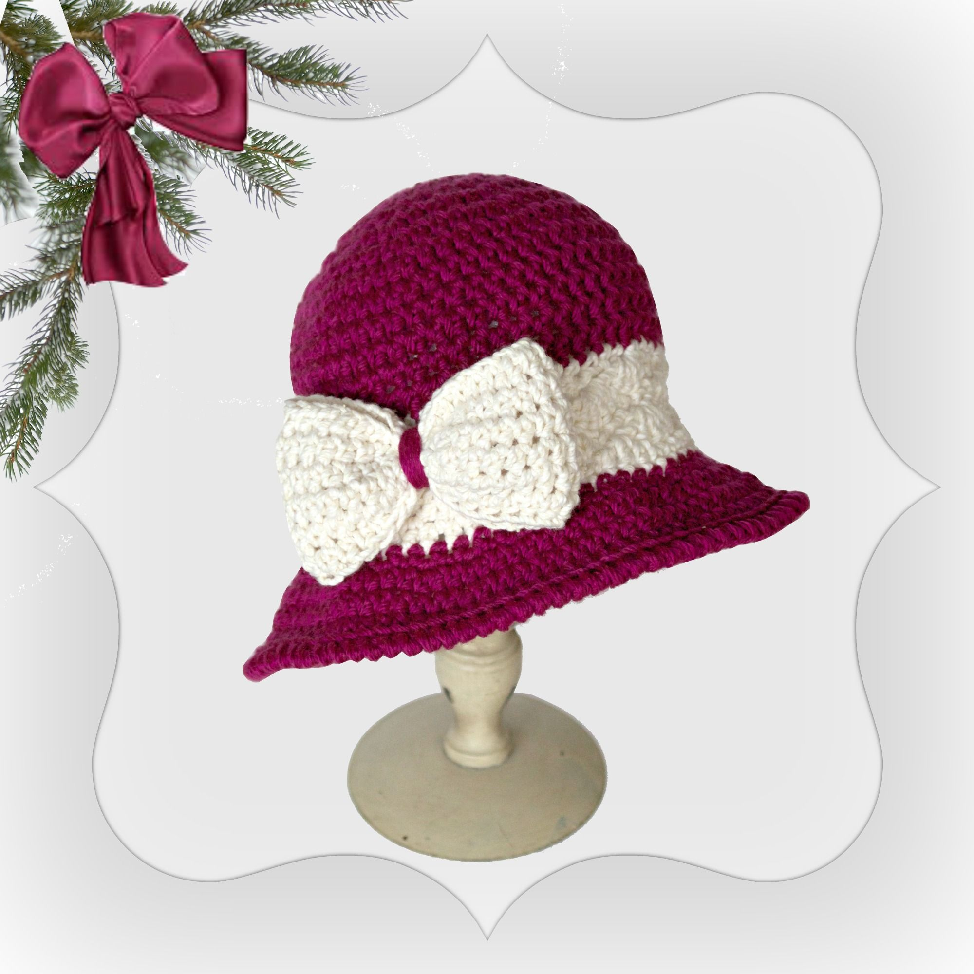 free crochet pattern for hat christmas joy | sonnenhut | Pinterest ...