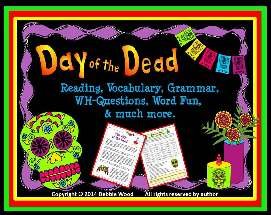 Day Of The Dead Debbie Wood Tpt Pinterest Worksheets Common
