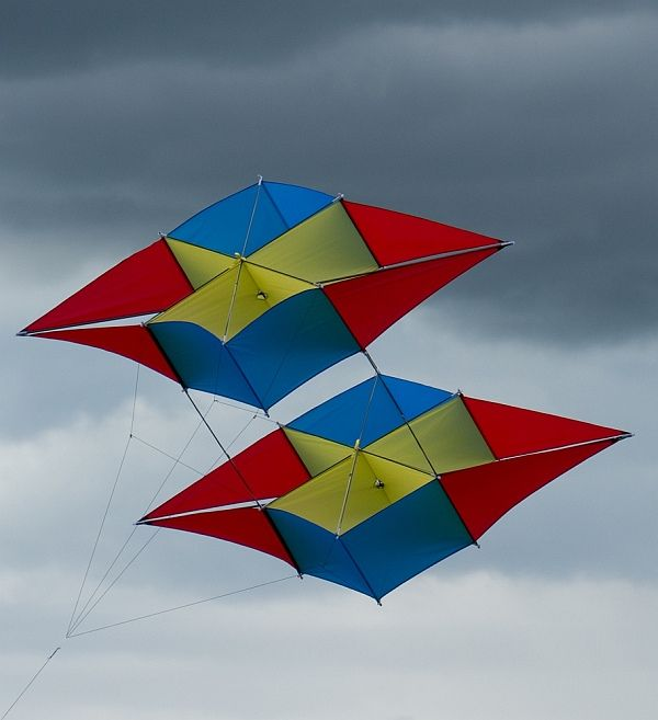 An Intriguing Kite Design. Like A Piggy-backed Double