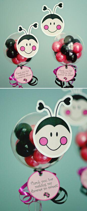 Oh So Sweet Ladybug Baby Shower Favors | www.partylolli.com
