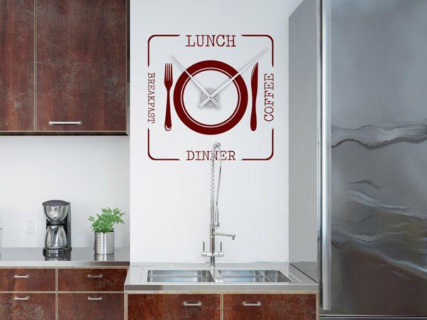 Moderne küchenuhren ~ Wandtattoos als große wanduhren moderne uhren mal anders