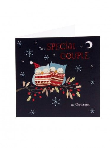 Special Couple Glitter Christmas Card Christmas Illustration Beautiful Greeting Cards Glitter Christmas