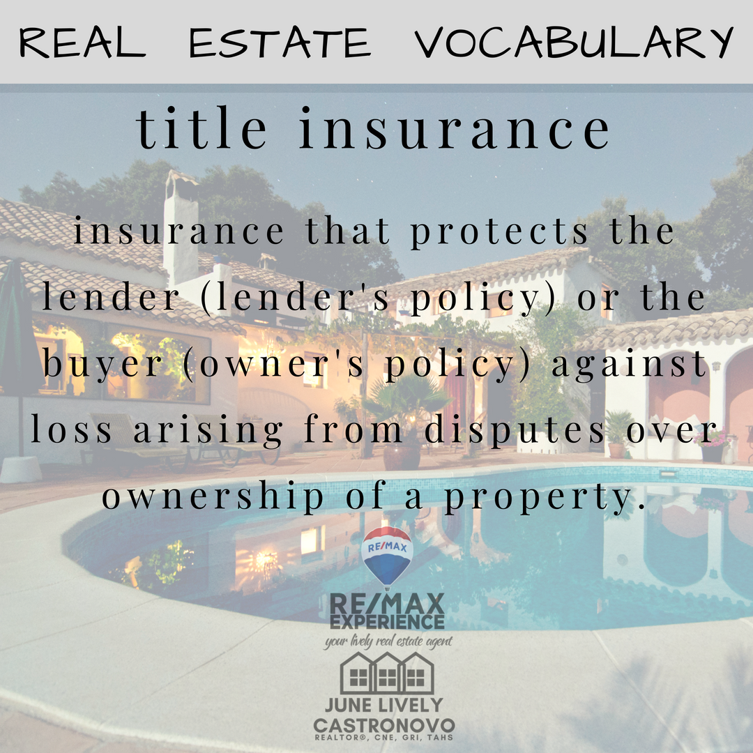 Titleinsurance Insurance That Protects The Lender Lender S