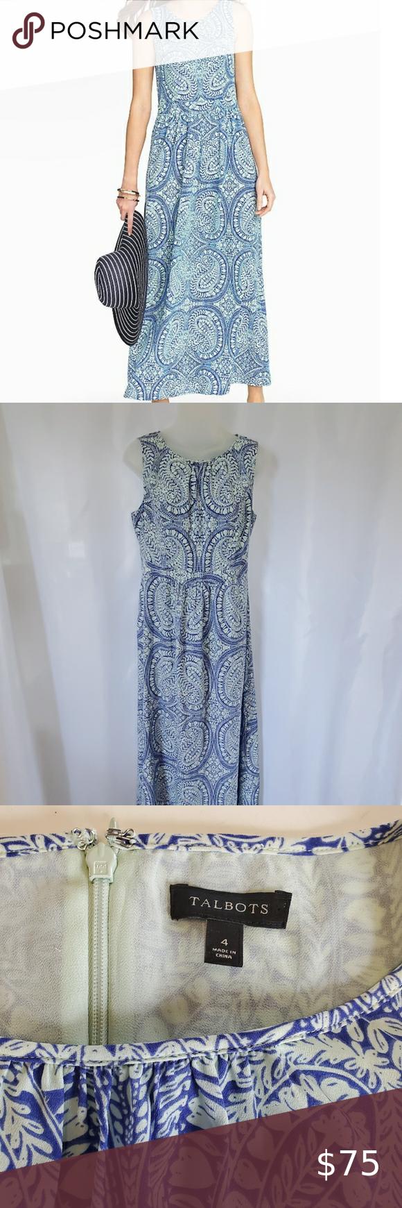 Talbots Maxi Dress Size 4 Chiffon Maxi Dress Maxi Dress Talbots Dress [ 1740 x 580 Pixel ]