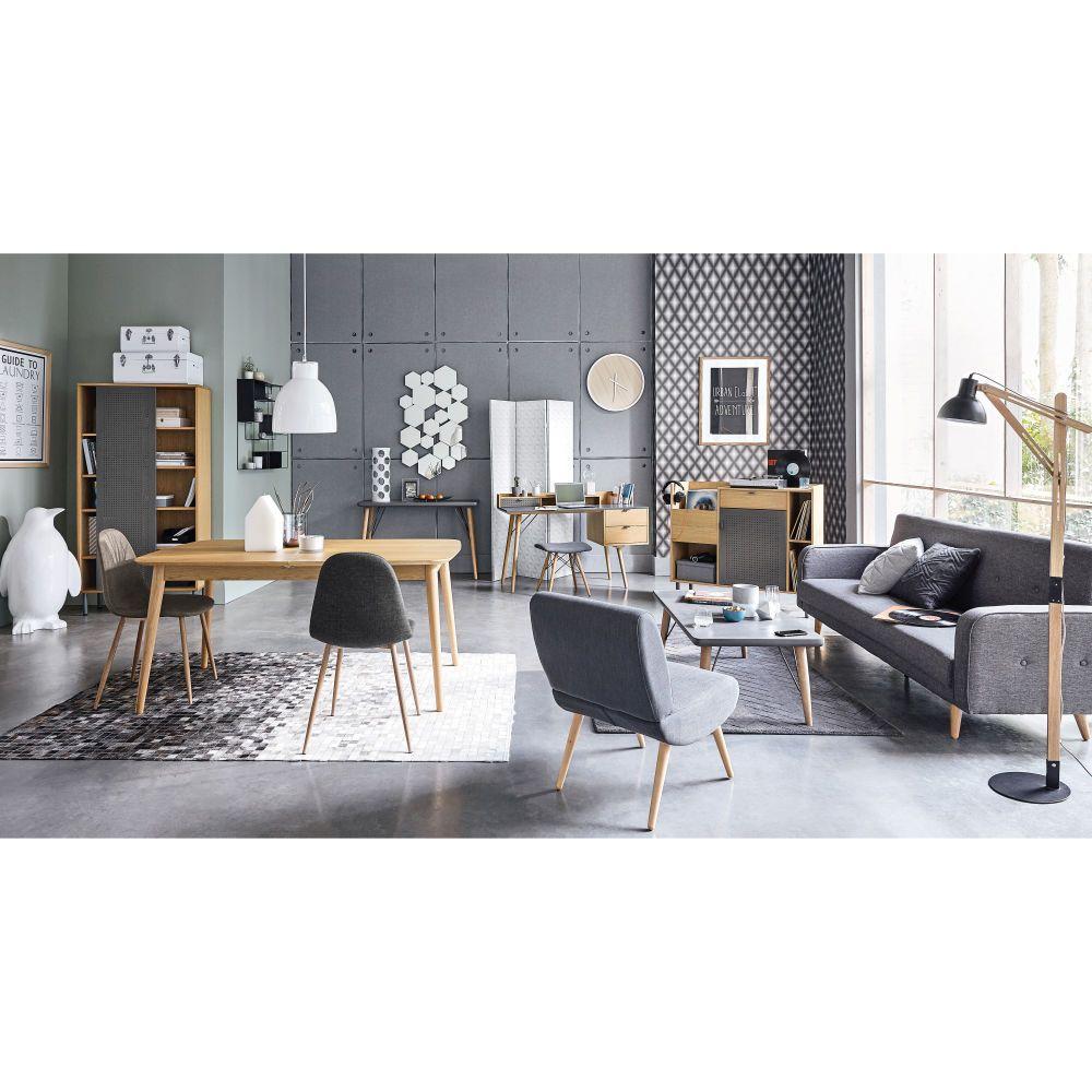 Mottled Grey 3 Seater Clic Clac Sofa Bed Maisons Du Monde