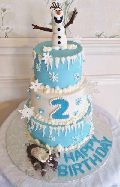 Disney's Frozen themed cake - buttercream