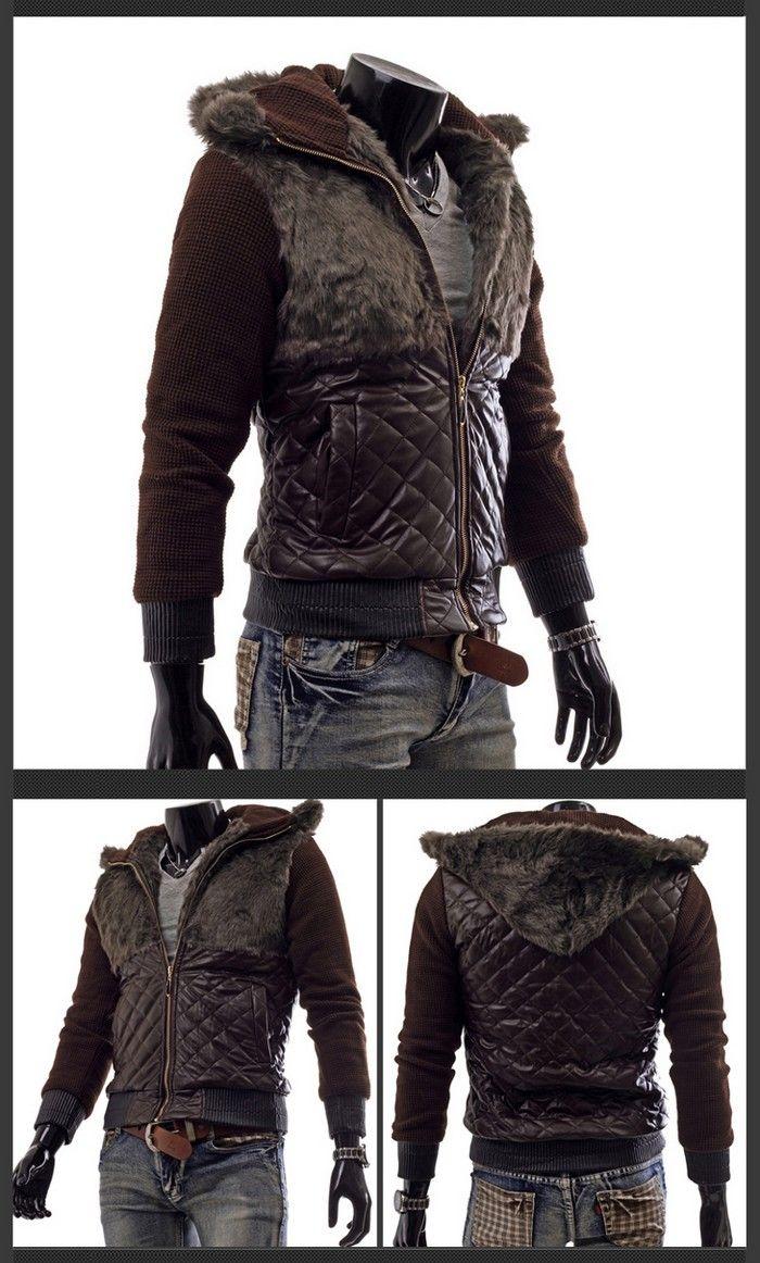 Мужские кожаные куртки + с капюшоном  отличаются практичностью благодаря  использованию натурального материала 4b7d93e012c